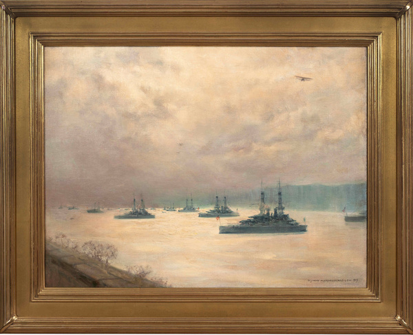 Low_BattleshipsonHudson_Framed